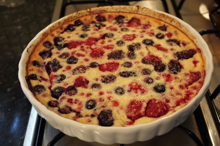 Clafoutis cooked